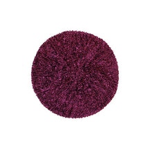 KCB2322 Chenille Burgundy with Silver Lurex