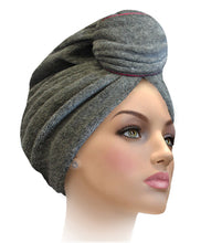 Miami Terry Trimmed White With Silver Turban