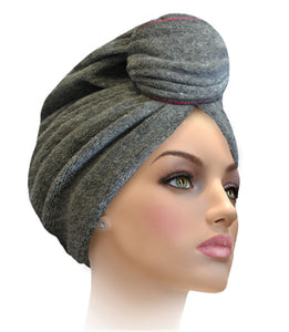 Miami Terry Trimmed Surf The Web With Silver Turban