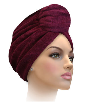 Miami Terry Trimmed Raspberry With Silver Turban