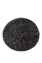 KCB2322 Chenille Black with Silver Lurex