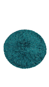 KCB2322 Chenille Teal With Navy Lurex
