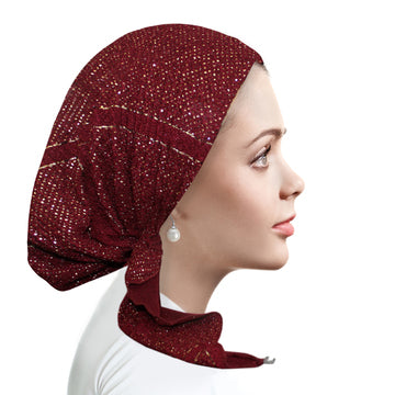 PM2156 Foiled Crepe Pretied Burgundy