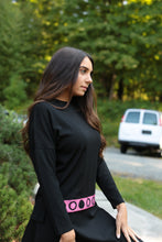 Ribbed top with Ribbon Black Frappe