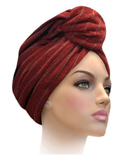 MTERHL Miami Terry Highlighted Turban Amaranth