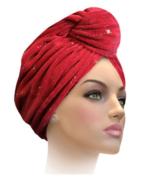 MTERGLX  Miami Terry Galaxy Turban Wine with gold