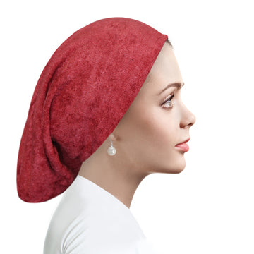 Chenille Beanies Earth Red