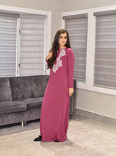 AC073 Brodure Lace nightgown Bud Pink