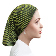 Chiffon Striped Velour Jade green Beanie