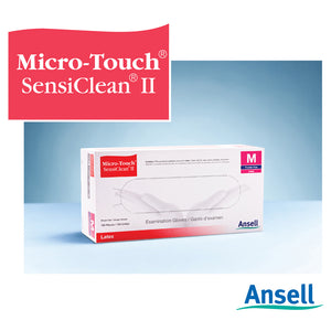 Sensiclean II Latex Gloves