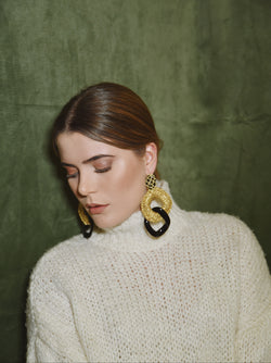VIVIEN BLACK- EARRINGS
