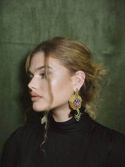 REESE PURPLE - EARRINGS