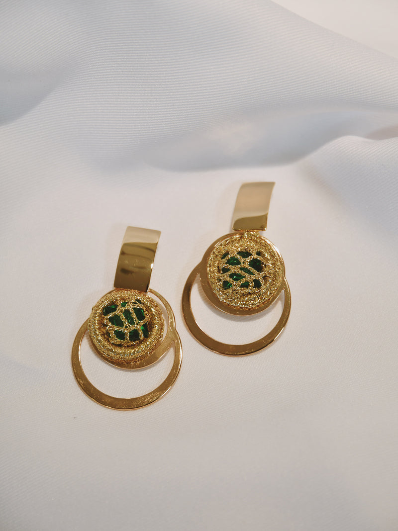 POPPY GREEN  - EARRINGS