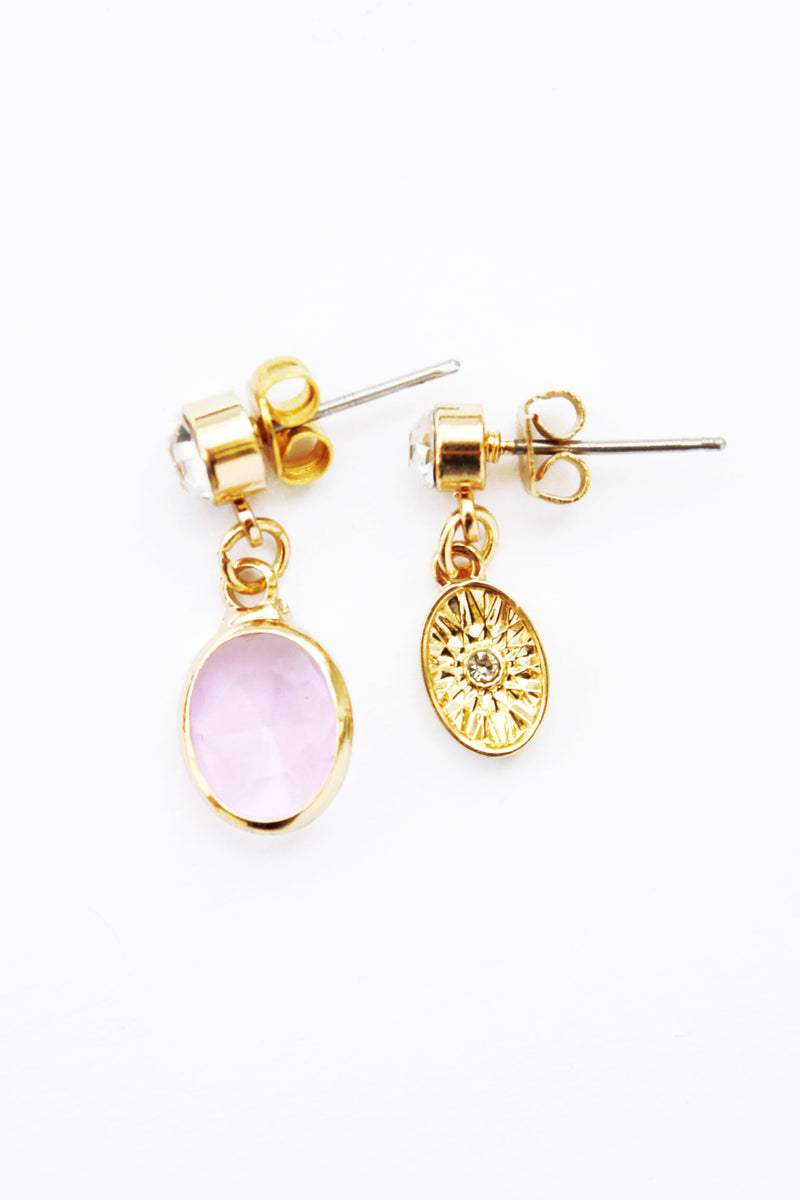 LUNA EARRINGS - LILAC