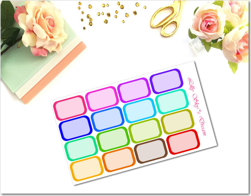 Rainbow Bold Color Half Boxes