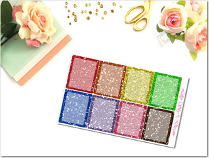 Glitter Full Boxes w/Transparency