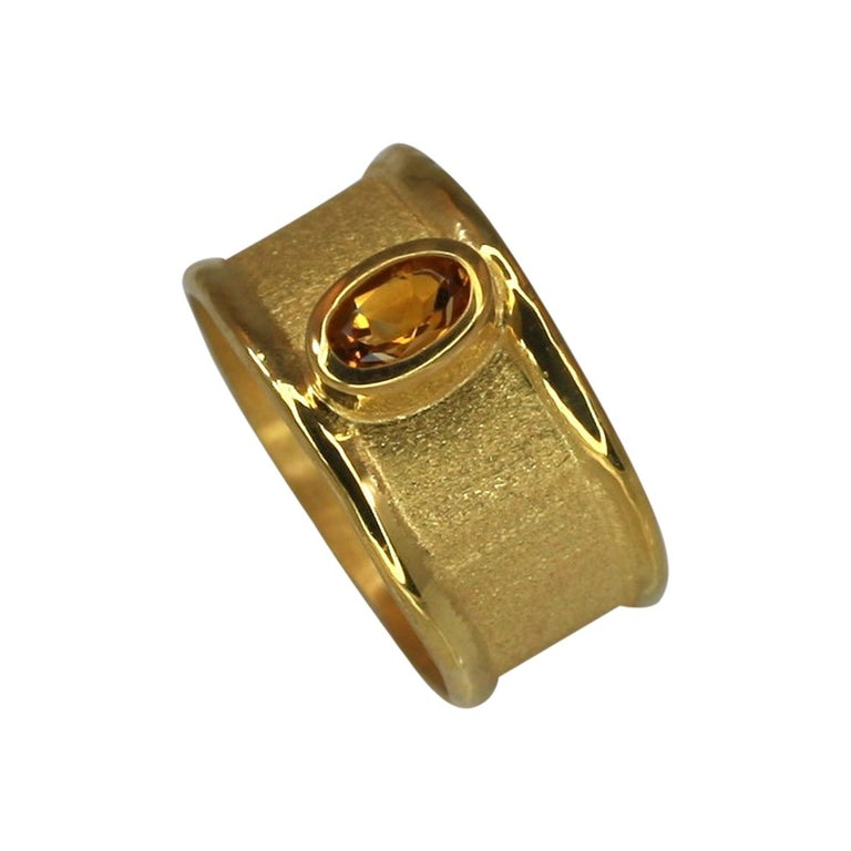 MIDAS Citrine Band Ring in 18 Karat Gold