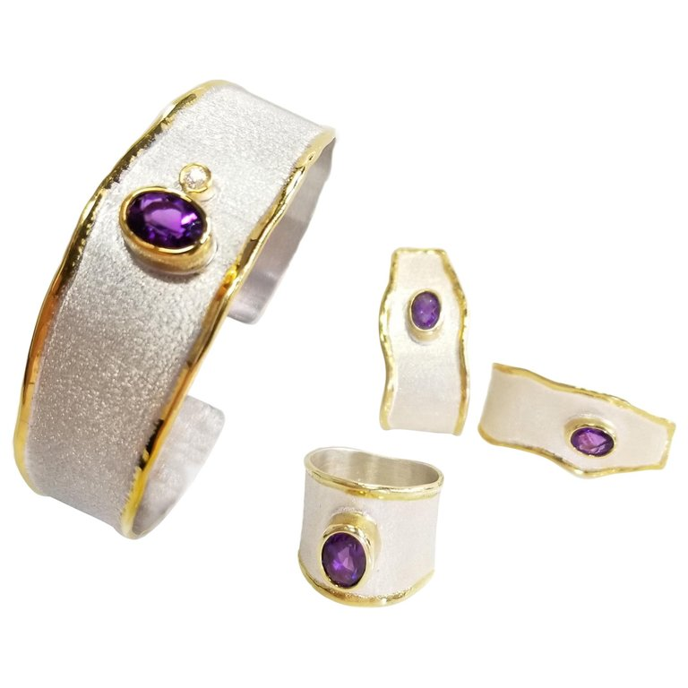 Midas set Amethyst and Diamond