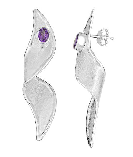 Silver Earrings AMMOS Style 14