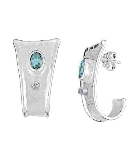 AMMOS Diamond Earrings Style 02