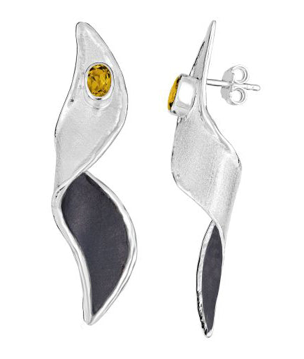 Silver Earrings HEPHESTOS DUAL Style 14