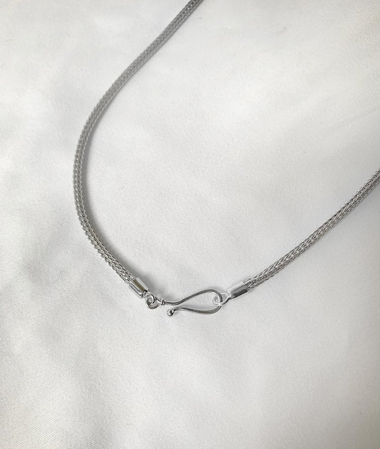 Silver Handwoven Rope thick