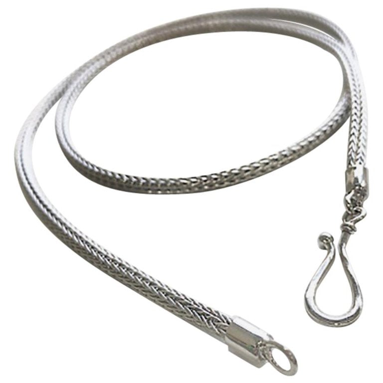 Silver Handwoven Rope thin