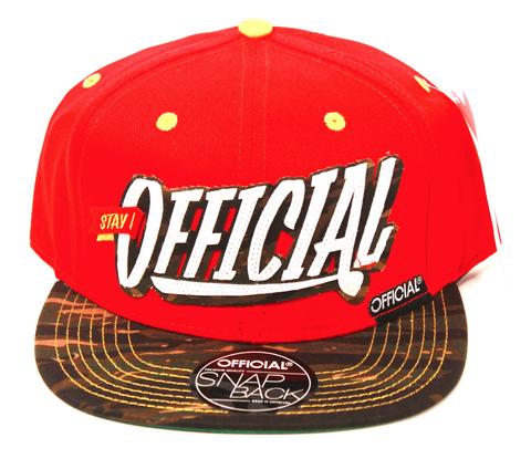 9'ers Snapback Official Red/Camo
