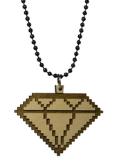 8 Bit Diamond Necklace Good Wood Natural