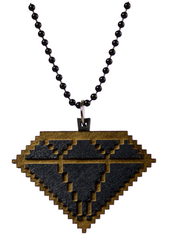8 Bit Diamond Necklace Good Wood Black