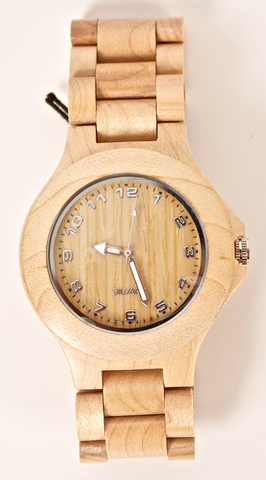 Mortise Wooden Watch Silvano Tan