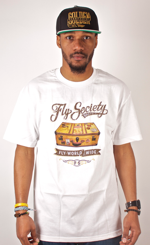 Luggage T-Shirt Fly Society White