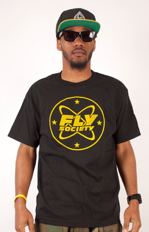 Cosmo T-Shirt Fly Society Black/Yellow