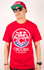 Carriage T-Shirt Crooks & Castles Red
