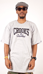 Basic Logo T-Shirt Crooks & Castles Gray