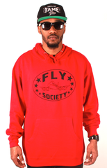 Logo Hoodie Fly Society Red