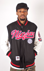Ninjas Light Varsity Jacket Rocksmith Black/White/Red