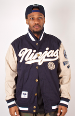 Ninjas Light Varsity Jacket Rocksmith Navy/Khaki