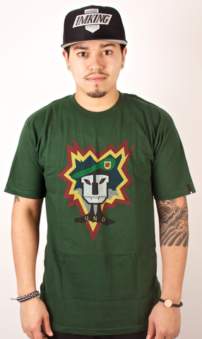 Mask T-Shirt Undefeated Green