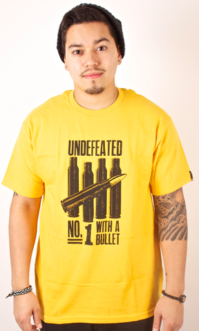 Bullets T-Shirt Undefeated Yellow