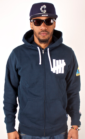 Gridiron Division Zip Up Hoodie Undefeated Navy