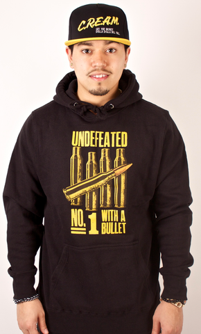Bullets Hoodie Undefeated Black/Yellow