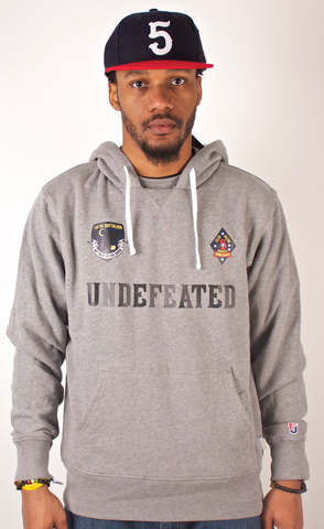 Celer Silens Mortalis Hoodie Undefeated Gray