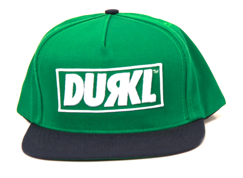 Logo Snapback Durkl Green/Dark Blue
