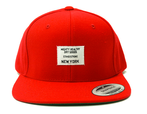 Dry Goods Snapback Mighty Healthy Red