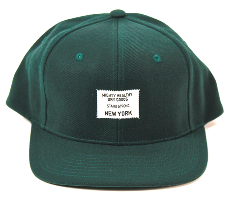 Dry Goods Snapback Mighty Healthy Green