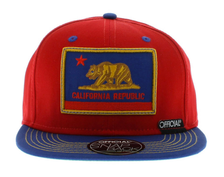 Cali Patriot Snapback Official Red/Blue/Gold