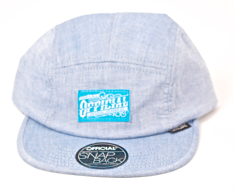 Chambray 5-Panel Camper Official Lt. Blue