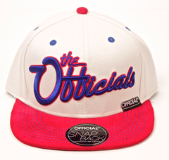 Off-White America Snapback Official White/Red/Blue