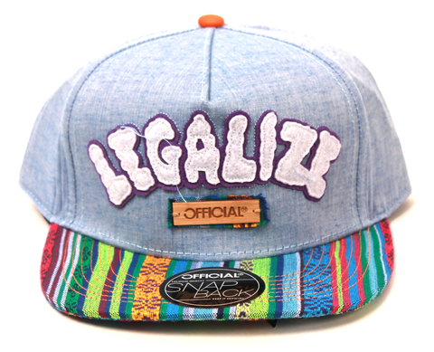 Legalize Hippy Snapback Official Chambray/Multi Colors